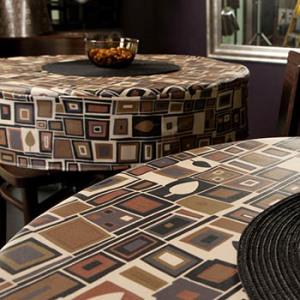 Custom Tablecloths in vinyl fabrics