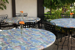 outdoor tablecloths elastic
