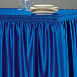 shirred table skirting