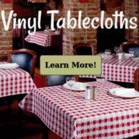 Vinyl Restaurant Tablecloths